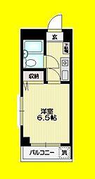 JR中央線 阿佐ヶ谷駅 徒歩11分の賃貸マンション 1階1Kの間取り