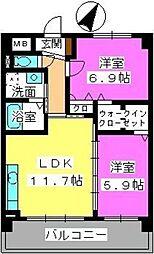 プレジデント大野城[4階]の間取り