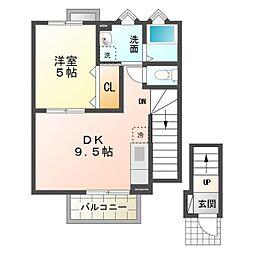 (仮称)洞町向山 賃貸住宅[2階]の間取り