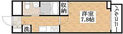 近鉄南大阪線 矢田駅 徒歩10分の賃貸マンション 7階1Kの間取り