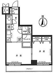 ルーブル上高井戸[8階]の間取り