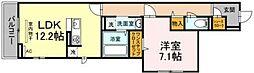 JR横浜線 中山駅 徒歩9分の賃貸アパート 3階1LDKの間取り