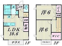 [テラスハウス] 東京都大田区中央3丁目 の賃貸【/】の間取り