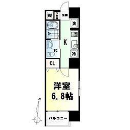 Tドリーム雨宮(ティードリームアマミヤ) 2階1Kの間取り