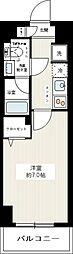 REXZY西川口AZIII 9階1Kの間取り