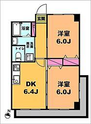 月村マンションNo32[5階]の間取り