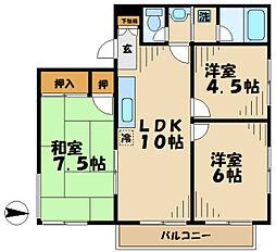 ヤマト永山ハウス[203号室]の間取り