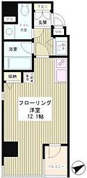 東京都港区麻布十番1丁目の賃貸マンションの間取り