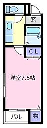 大阪府松原市上田7丁目の賃貸マンションの間取り
