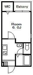プロローグ本八幡[2階]の間取り