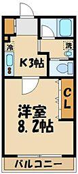 東京都多摩市一ノ宮2丁目の賃貸マンションの間取り