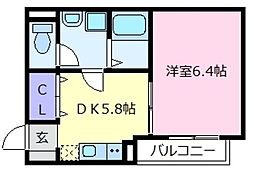FSTYLE上田1号館[2階]の間取り