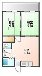 愛知県豊橋市東橋良町の賃貸アパートの間取り
