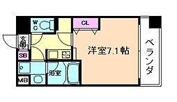 ゲートコート大阪福島[3階]の間取り