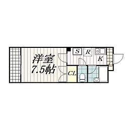 フローラ・21[3階]の間取り
