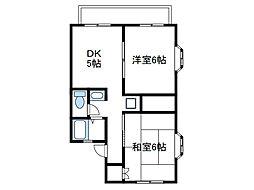 神奈川県海老名市東柏ケ谷6の賃貸アパートの間取り