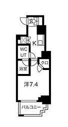 東急東横線 反町駅 徒歩4分の賃貸マンション 4階1Kの間取り