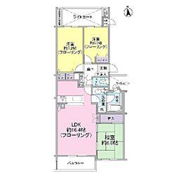 クリオ鷺沼1番館[3階]の間取り