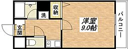 JR関西本線 平野駅 徒歩8分の賃貸マンション 6階1Kの間取り