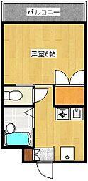 ノクティコーポM[1階]の間取り