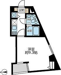 都営浅草線 馬込駅 徒歩5分の賃貸マンション 2階1Kの間取り