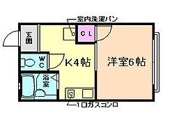 コーポラス槌屋[1階]の間取り