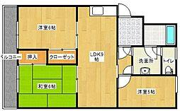 井尻谷コーポ[304号室]の間取り