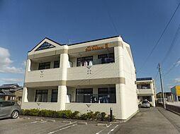 愛知県岡崎市牧御堂町字花辺の賃貸アパートの外観