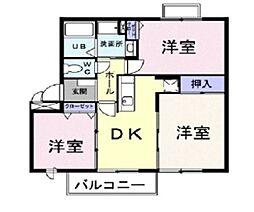 ニューエルディムトモエ VI[2階]の間取り