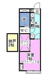 レオパレスオープンハウス21[105号室]の間取り
