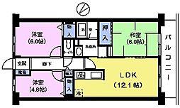 プレステージ平和台1番館[2階]の間取り