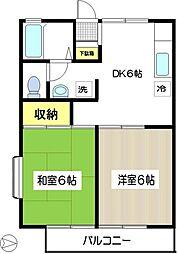 マーシャル駒井[105号室]の間取り