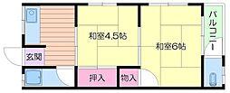 金明荘[2階]の間取り