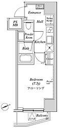 ニューガイアリルーム芝No.28 7階1Kの間取り