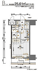 JR山手線 神田駅 徒歩4分の賃貸マンション 2階1Kの間取り