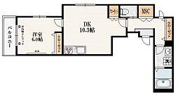 ラ クレ デュ ボヌール 4階1LDKの間取り