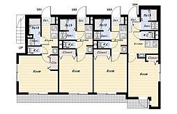 南久が原1丁目アパート(仮称)[102号室]の間取り