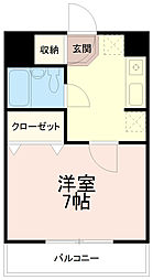 リバーサイド辰巳[5階]の間取り