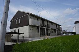 茨城県筑西市海老ヶ島の賃貸アパートの外観