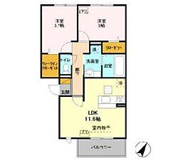 オランジュA[3階]の間取り