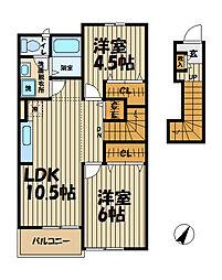 ファーウエスト鎌倉[2階]の間取り