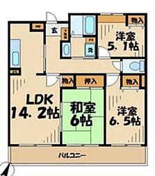 アビオン多摩川 1階3LDKの間取り