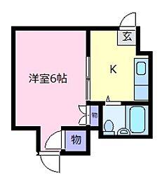 三恵ハイツ[1階]の間取り