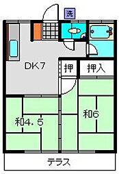 三平荘[101号室]の間取り