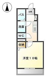 愛知県愛知郡東郷町白鳥1丁目の賃貸アパートの間取り