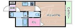 Osaka Metro御堂筋線 江坂駅 徒歩8分の賃貸マンション 8階1Kの間取り