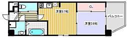 KAUNIS HIRANO[3階]の間取り