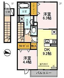 仮)三木市福井D−room[203号室]の間取り