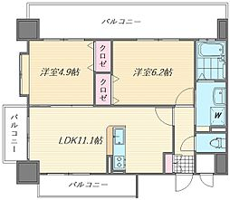 ロイヤルステージ吉塚[7階]の間取り