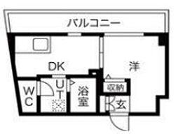 ラ・ファヴォール 5階1DKの間取り